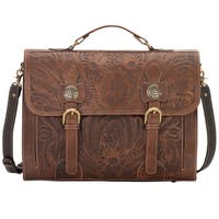 American West Chestnut Brown/ Chocolate Brown Computer Briefcase
