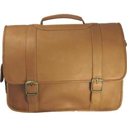 David King Leather 119 Porthole Computer Briefcase Tan