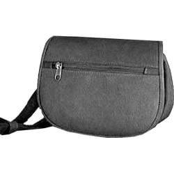 David King Leather 401 Flap over Waist Pack Black