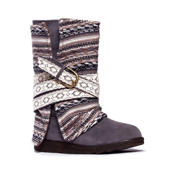 5e5ade42dba Shop Women s MUK LUKS Nikki Belt Wrapped Boot Grey - Free Shipping ...