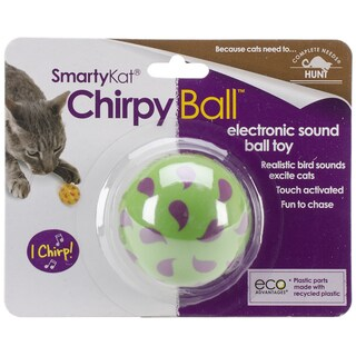SmartyKat ChirpyBall Electronic Sound Ball Toy