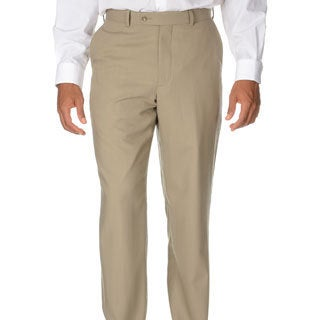 Montefino Mondo Men's 'Super 120 Merino' Tan Wool Pants