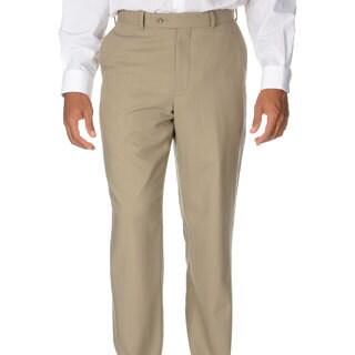 Montefino Mondo Men's 'Super 120 Merino' Tan Wool Pants