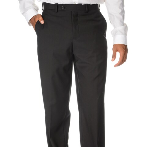 Caravelli Italy Men's 'Superior 150' Black Flat-front Pants