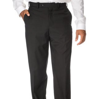 Caravelli Italy Men's 'Superior 150' Black Flat-front Pants (More options available)
