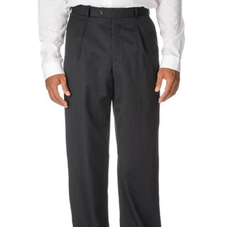 Cianni Cellini Men's Charcoal Wool Gabardine Pants (More options available)