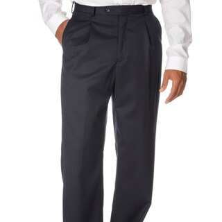 Cianni Cellini Men's Navy Wool Gabardine Pants (More options available)