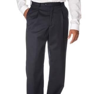 Cianni Cellini Men's Navy Wool Gabardine Pants