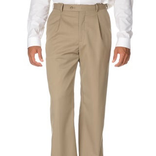 Cianni Cellini Men's Tan Wool Gabardine Pants (More options available)