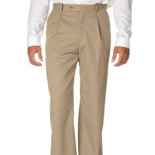 Cianni Cellini Men's Tan Wool Gabardine Pants