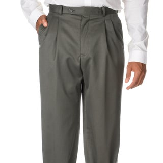 Cianni Cellini Men's Olive Wool Gabardine Pants (More options available)