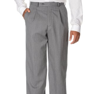 Cianni Cellini Men's Grey Wool Gabardine Pants (More options available)