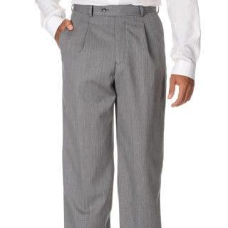 Cianni Cellini Men's Grey Wool Gabardine Pants