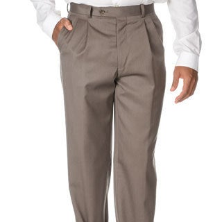 Cianni Cellini Men's Taupe Wool Gabardine Pants (More options available)