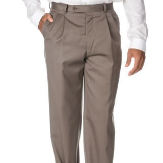 Cianni Cellini Men's Taupe Wool Gabardine Pants