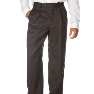 Cianni Cellini Men's Brown Wool Gabardine Pants (More options available)