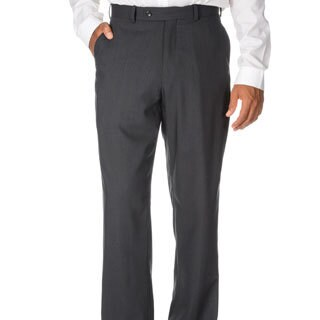 Montefino Mondo Men's 'Super 120 Merino' Charcoal Wool Pants