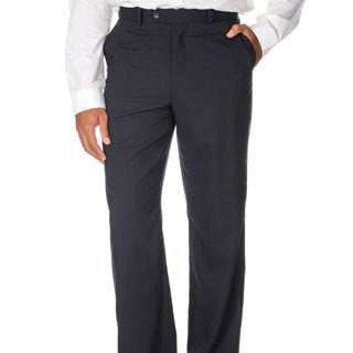 Montefino Mondo Men's 'Super 120' Navy Merino Wool Pants