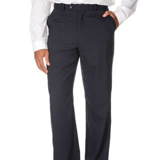 Montefino Mondo Men's 'Super 120' Navy Merino Wool Pants