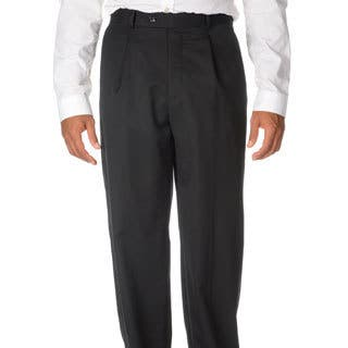 Cianni Cellini Men's Black Wool Gabardine Pants|https://ak1.ostkcdn.com/images/products/9493685/P16674214.jpg?impolicy=medium