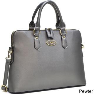 Dasein Slim, Rolled Handle Briefcase Satchel Handbag with Removable Shoulder Strap