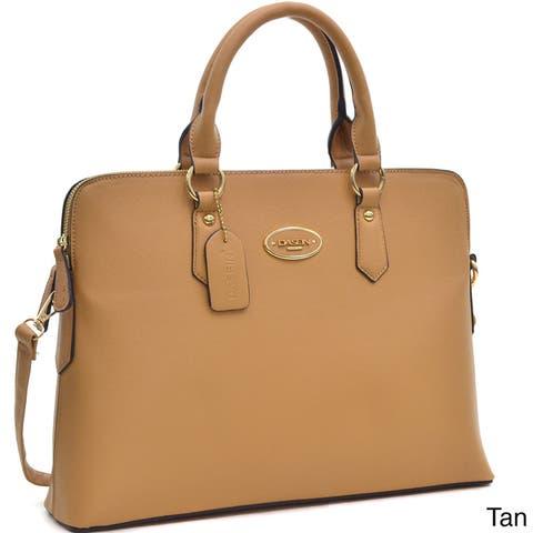 Dasein Slim, Rolled Handle/ Removable Strap Briefcase Satchel Handbag