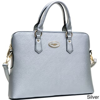 Dasein Slim, Rolled Handle/ Removable Strap Briefcase Satchel Handbag (More options available)
