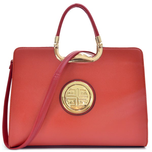 Dasein Rolled Handle Emblem Briefcase with Removable Shoulder Strap. Opens flyout.