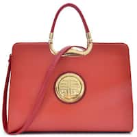 Dasein Rolled Handle Emblem Briefcase with Removable Shoulder Strap