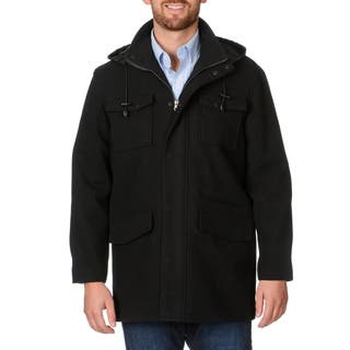 West End Young Men's 'Westin' Black Twill Winter Coat|https://ak1.ostkcdn.com/images/products/9493711/P16674292.jpg?impolicy=medium