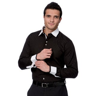 Domani Blue Luxe Men's Black/ White Trim Button-down Dress Shirt|https://ak1.ostkcdn.com/images/products/9493763/P16674269.jpg?_ostk_perf_=percv&impolicy=medium