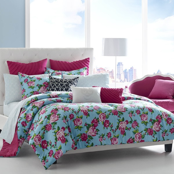 betsey johnson betsey 39 s boudoir cotton 3 piece comforter set free shipping on orders over 45. Black Bedroom Furniture Sets. Home Design Ideas
