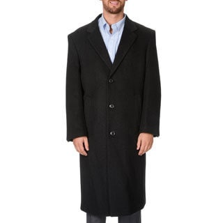 Montefino Men's 'Harvard' Charcoal Full-length Coat