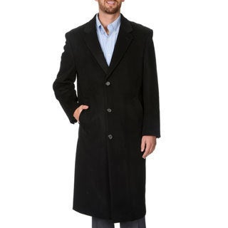 Montefino Men's 'Harvard' Black Full-length Coat