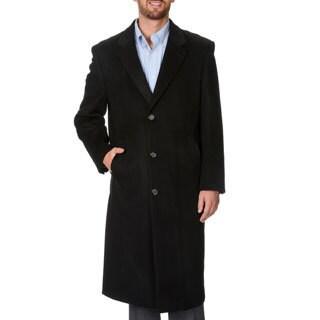 Montefino Men's 'Harvard' Black Full-length Coat