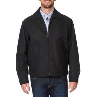 Cianni Cellini Men's 'Republic' Charcoal Short Top Coat