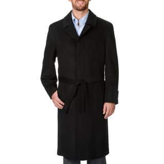 Prontomoda Men's 'Ronald' Black Wool and Cashmere Full-length Coat (Option: 40l)|https://ak1.ostkcdn.com/images/products/9493793/P16674293.jpg?impolicy=medium