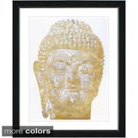 Studio Works Modern 'White Buddha' Framed Fine Art Print