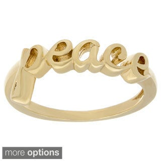 Sterling Essentials Silver Peace Word Ring