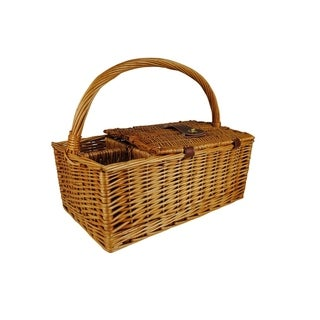 Wald Imports Willow 17-inch Picnic Basket