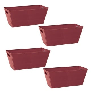 Wald Imports Burgundy 13-inch Paperboard Tote (set of 4)
