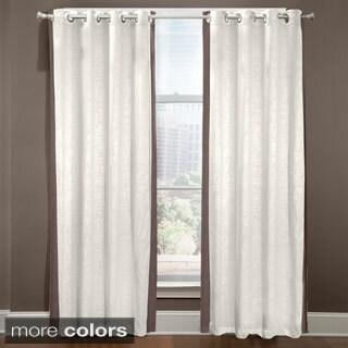 Grand Luxe Central Park Linen Grommet Top Curtain Panel