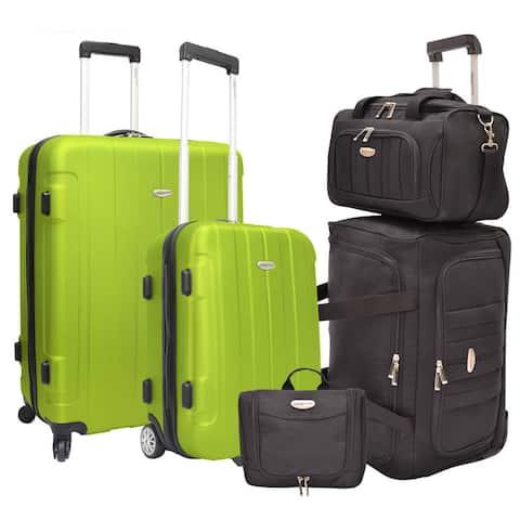 Traveler's Choice Rome 5-Piece Hardside and Softside Luggage Set