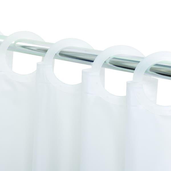 Quik Hang No Hook Eco Friendly PEVA Shower Curtain Liner