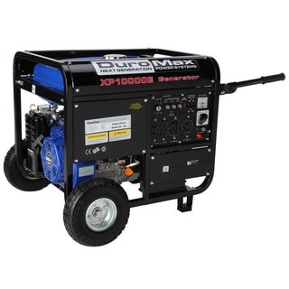 DuroMax 10,000 Watt 16.0 Hp CARB Approved Gas Generator with Electric Start, Wheel Kit