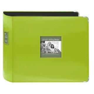 Pioneer Jumbo 3-ring Bright Green Scrapbook Binder with Bonus Refill Pack (12x12)|https://ak1.ostkcdn.com/images/products/9495232/P16675597.jpg?impolicy=medium