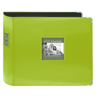 Pioneer Jumbo 3-ring Bright Green Scrapbook Binder with Bonus Refill Pack (12x12)
