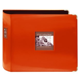 Pioneer Jumbo 3-ring Bright Orange Scrapbook Binder with Bonus Refill Pack (12x12)
