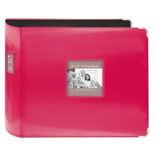 Pioneer Jumbo 3-ring Bright Pink Scrapbook Binder with Bonus Refill Pack (12x12)