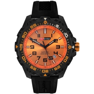 Isobrite Men's T100 Valor Series Black Orange Watch by Armourlite